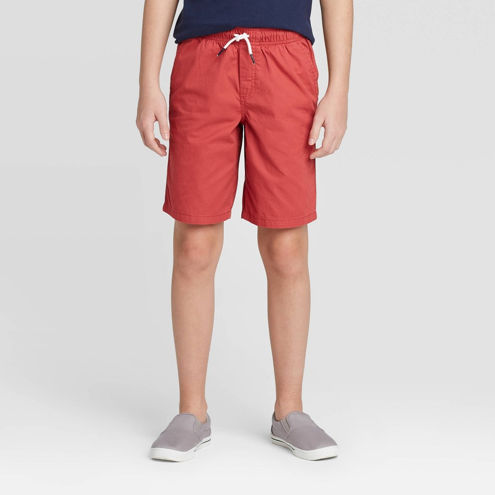 Boys 39 Pull On Woven Shorts Cat 38 Jack 8482 Red L
