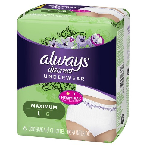 Always Discreet Maximum Absorbency Large Incontinence Underwear - image 1 of 4