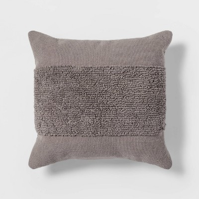 Tufted Modern Pattern Square Pillow Gray - Project 62™