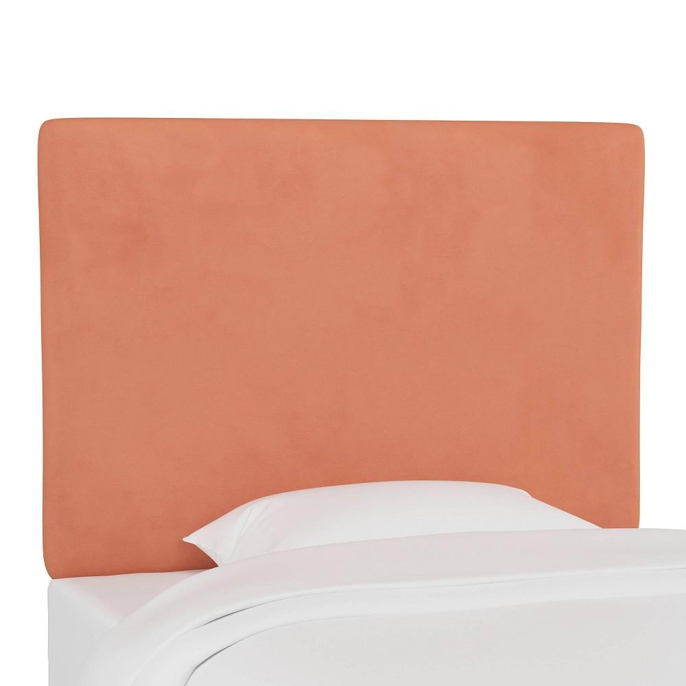 Coupons Kids'  Upholstered Headboard Velvet Papaya - Pillowfort™