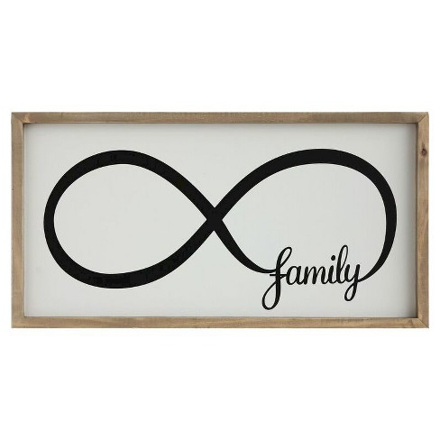 "Infinity Family Wall Décor (24""x12"") - 3R Studios - image 1 of 1"