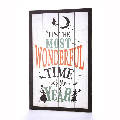 Lakeside It's The Most Wonderful Time of the Year Witches Motif Wall Sign