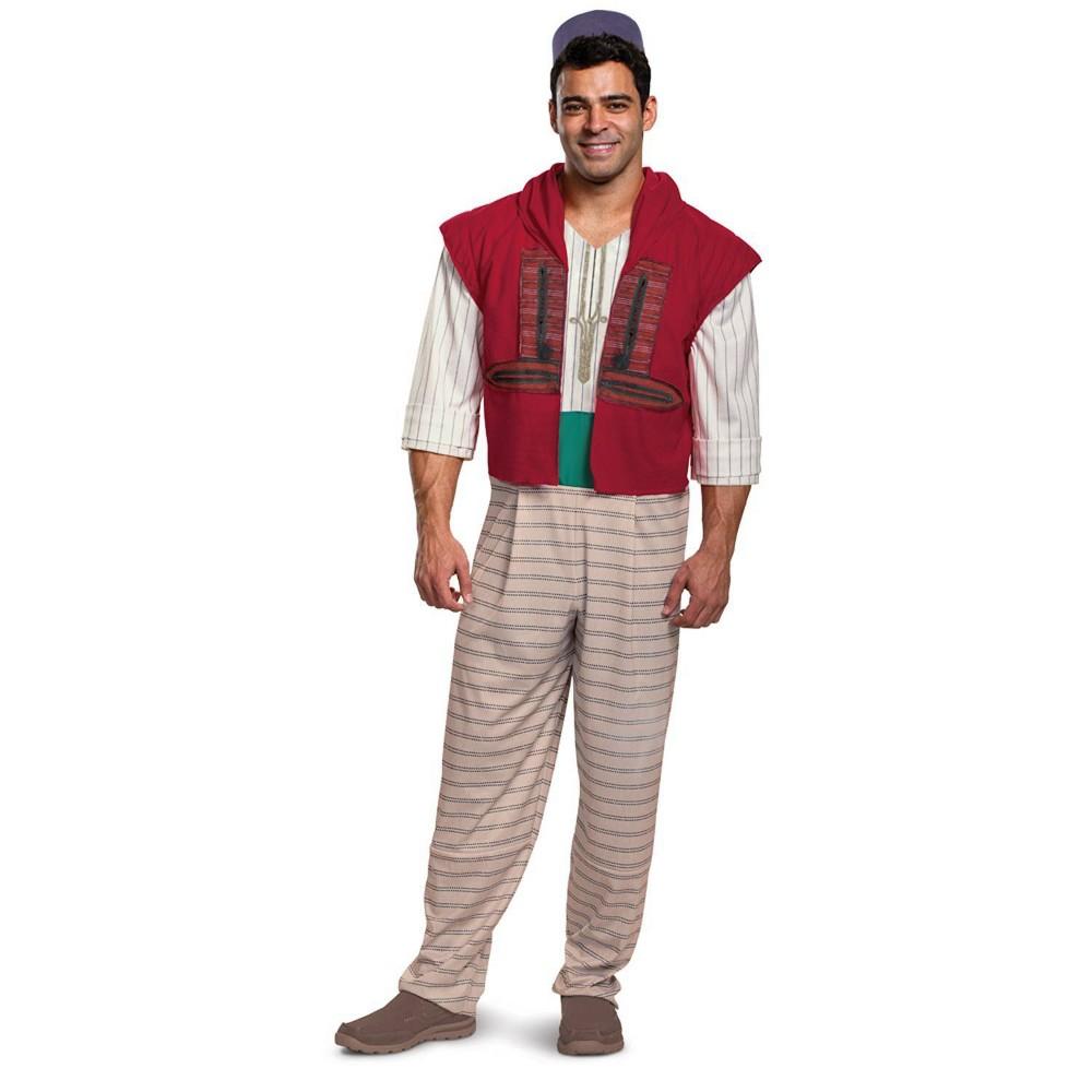 Image of Halloween Men's Aladdin Deluxe Halloween Costume L, Men's, Size: Small, MultiColored