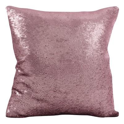 Purple Sequin Mermaid Design Throw Pillow (18 )- Saro Lifestyle®
