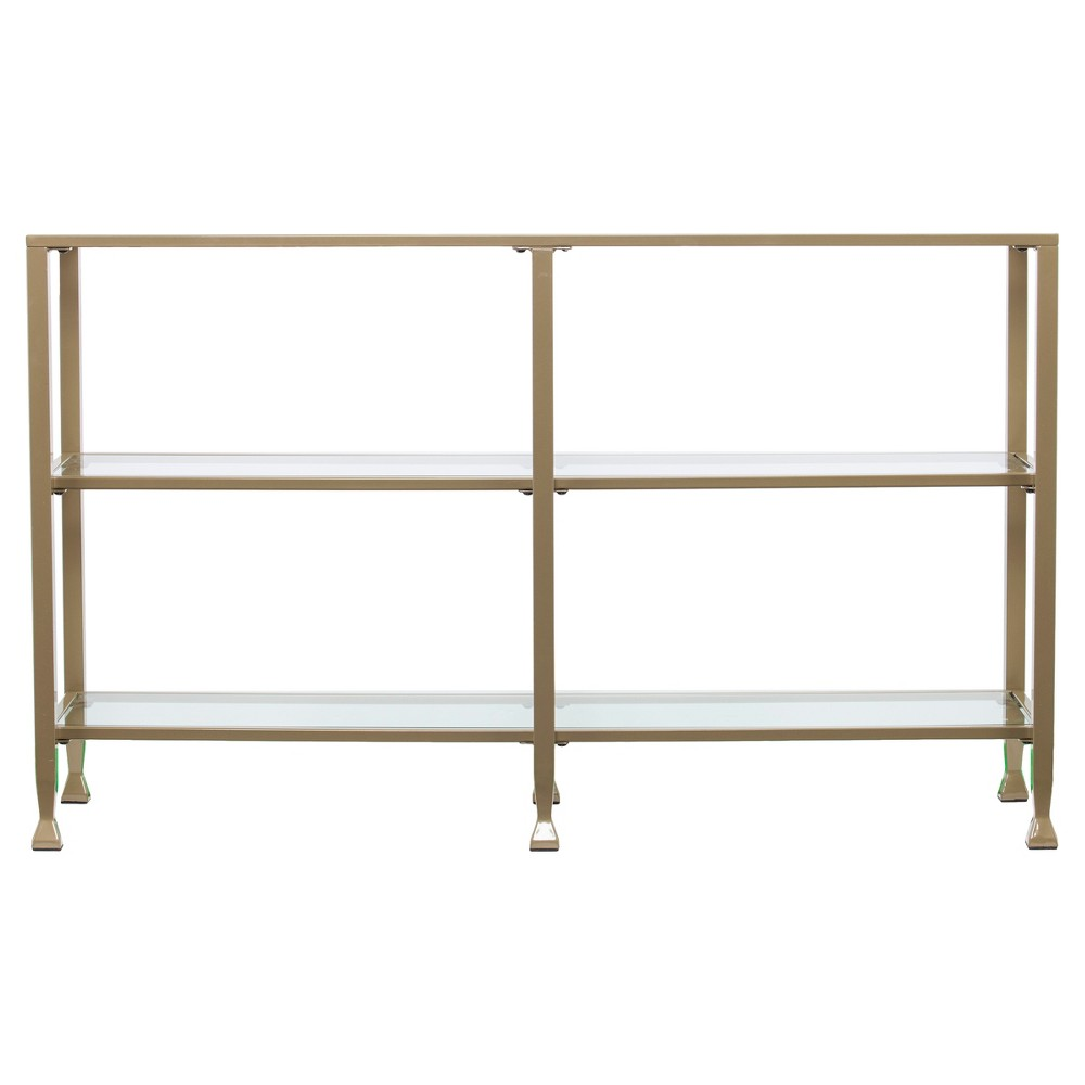 Jamel 3 - Tier Console Table - Matte Khaki (Green) - Aiden Lane