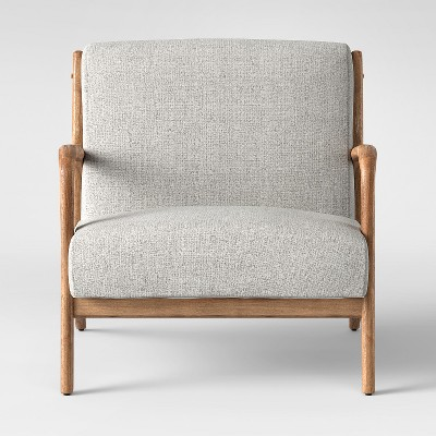 Esters Wood Arm Chair Light Gray - Project 62™