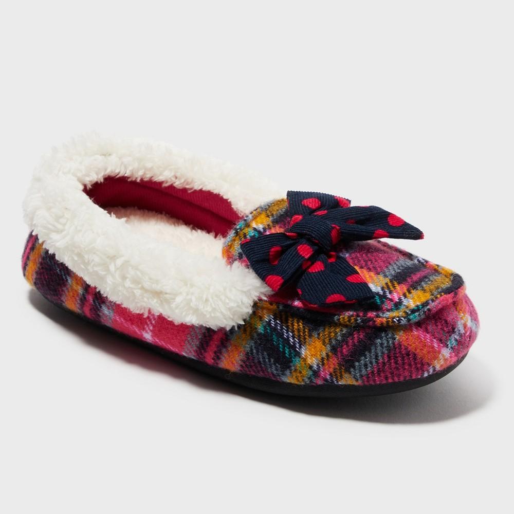 Image of Girls' Dearfoams Slide Slippers - Pink 11-12, Girl's