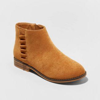 Girls' Euna Fashion Boots - Cat & Jack™ Chestnut 13