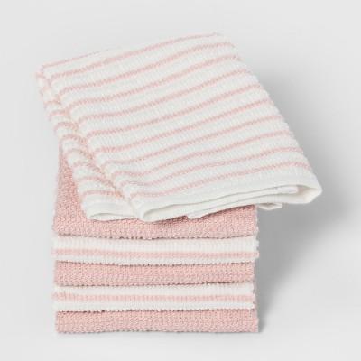 Casual Pink Stripe Dish Cloth - Room Essentials™