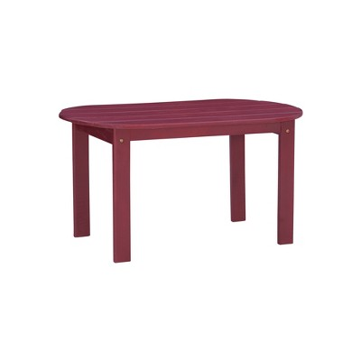 Adirondack Oval Coffee Table - Linon