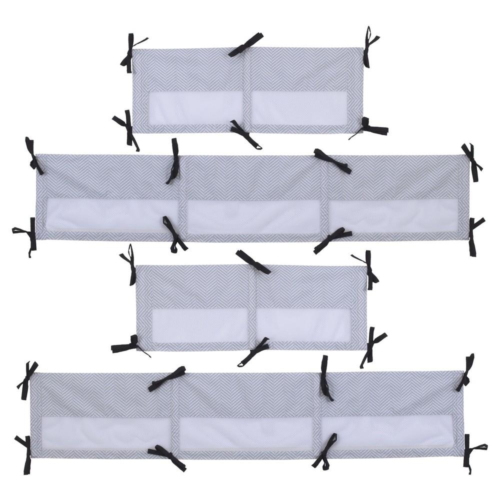 Image of NoJo Secure-Me Crib Liner - Roar, White