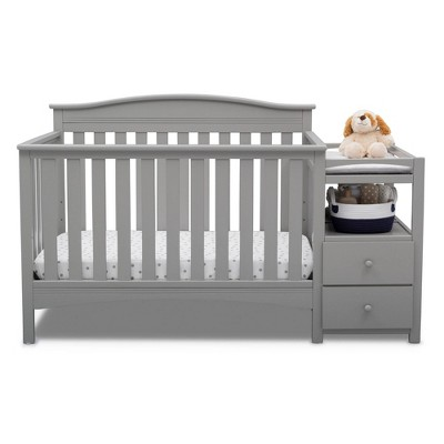 Delta Children Birkley Convertible 4-in-1 Crib and Changer - Gray