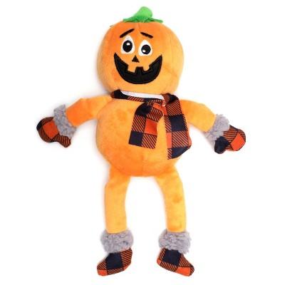 The Worthy Dog Buffalo Pumpkin Toy - Orange - One Size
