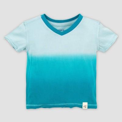 Burt's Bees Baby® Baby Boys' Organic Cotton Dip Dye T-Shirt Island Breeze - Green 12M