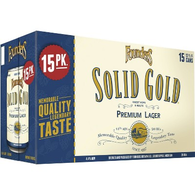 Founders Solid Gold Premium Lager Beer - 15pk/12 fl oz Cans