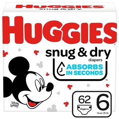 Huggies Snug & Dry Diapers Super Pack - Size 6 - 62ct