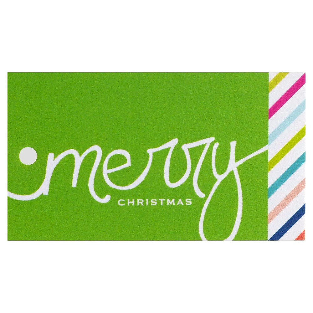 meant to be sent Merry Christmas Gift Tag, Multi-Colored