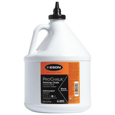 KESON PM105BLACK Marking Chalk,Waterproof,Black,5 lb.