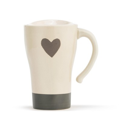 DEMDACO Warm Heart Travel Mug White