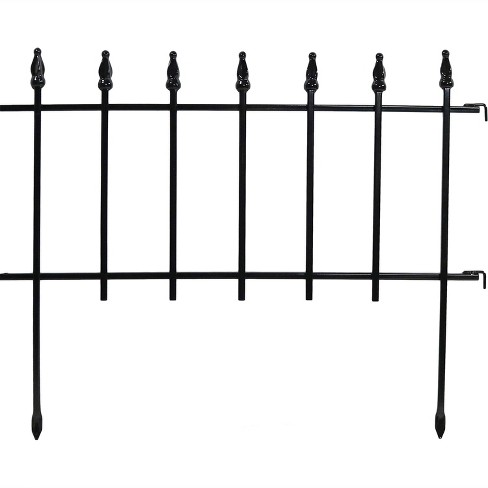 "22"" x 18"" Roman Border Fence Set 20pc - Black - Sunnydaze Decor - image 1 of 4"