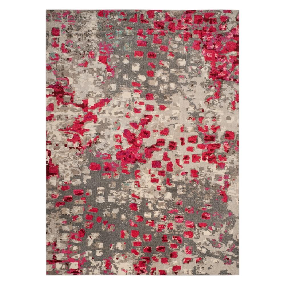 8'X11' Shapes Area Rug Gray/Fuchsia (Gray/Pink) - Safavieh