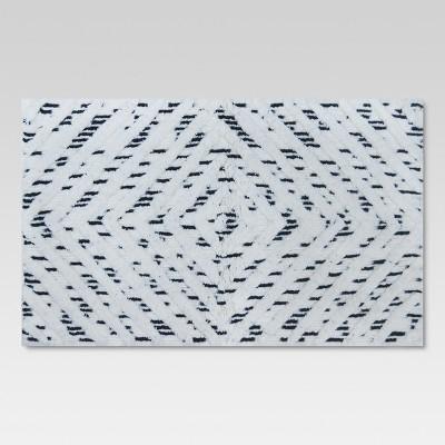 Diamond Bath Rug (20 x34 )Black/White - Threshold™