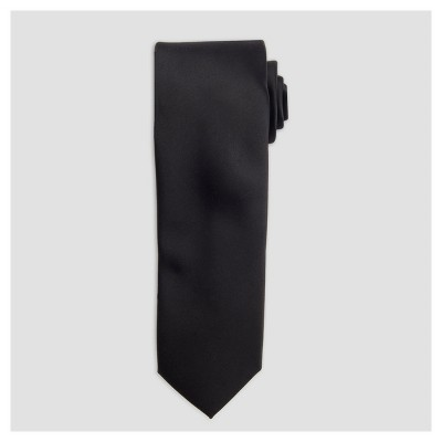 Men's Satin Skinny Tie - Goodfellow & Co™ Black One Size