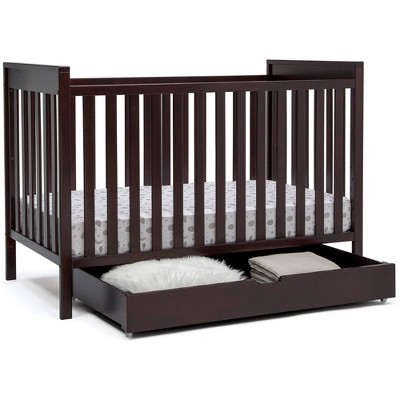 Delta Children Mercer 6-in-1 Convertible Crib + Under Crib Roll-Out Storage