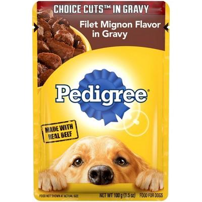 Pedigree Choice Cuts In Gravy Filet Mignon Flavor Wet Dog Food - 3.5oz