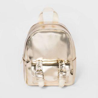 Girls' Metallic Backpack - Cat & Jack™ Gold