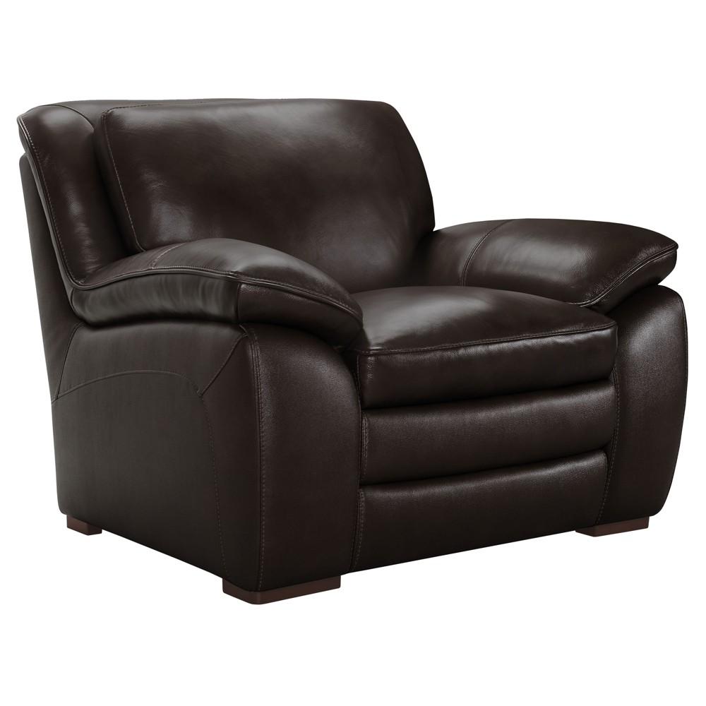 Armen Living Zanna Contemporary Chair Dark Brown