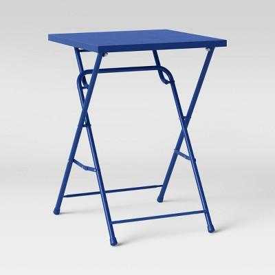 "20"" Metal Slat Square Patio Folding Dining Table - Room Essentials™"