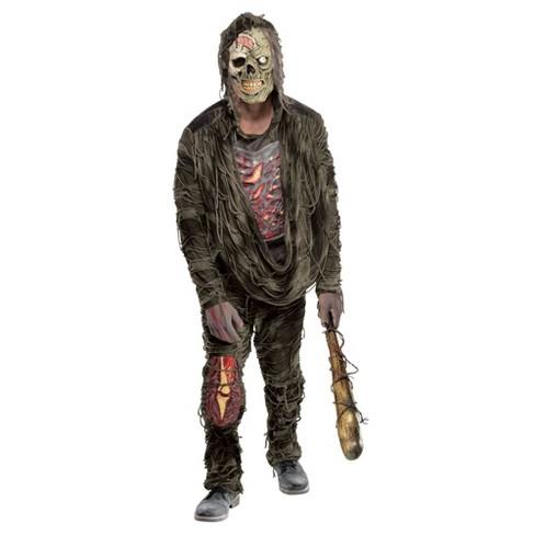 Halloween Zombie Costume.Adult Zombie Creeper Halloween Costume One Size Target