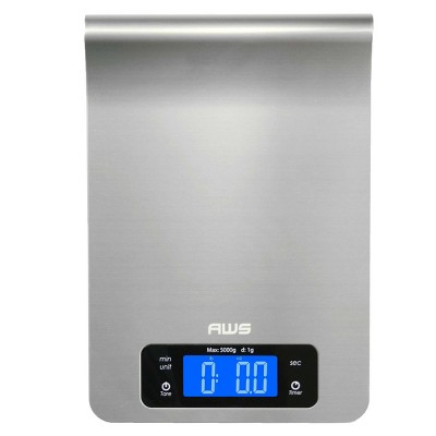 American Weigh Scales Epsilon 11lbs Stainless Steel Kitchen Scale