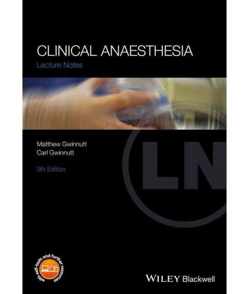Clinical Anaesthesia (Paperback) (Matthew Gwinnutt) - image 1 of 1