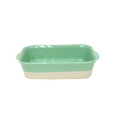 Casafina Fattoria Green Stoneware 11 x 7 Inch Rectangular Baker