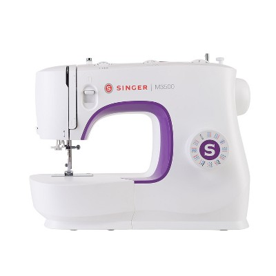 Singer M3500 Portable Sewing Machine with 110 Stitch Applications, Pack of Needles, Bobbins, Seam Ripper, Zipper Foot, and More Accessories, White