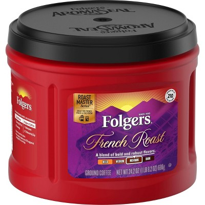 Folgers French Medium Dark Roast Ground Coffee - 24.2oz