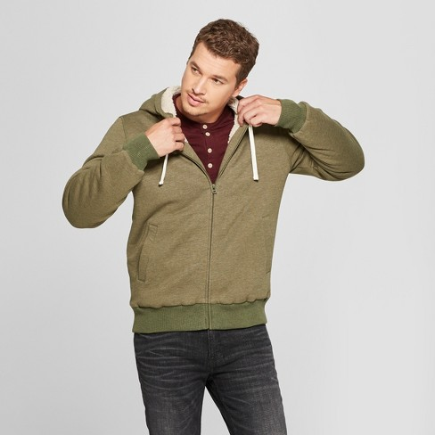 0ed6d266 Men's Sherpa With Hoodie Coat - Goodfellow & Co™ : Target