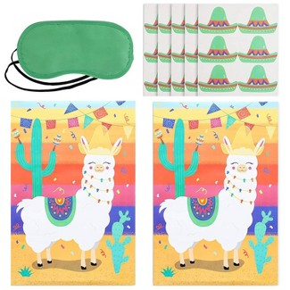 Blue Panda Pin The Tail On The Llama Party Game (2 Pack) : Target