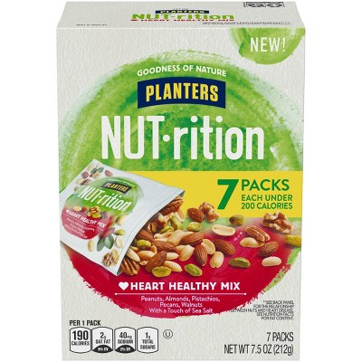 Planters Nut-Rition Heart Healthy Mixed Nuts - 7.5oz/7ct