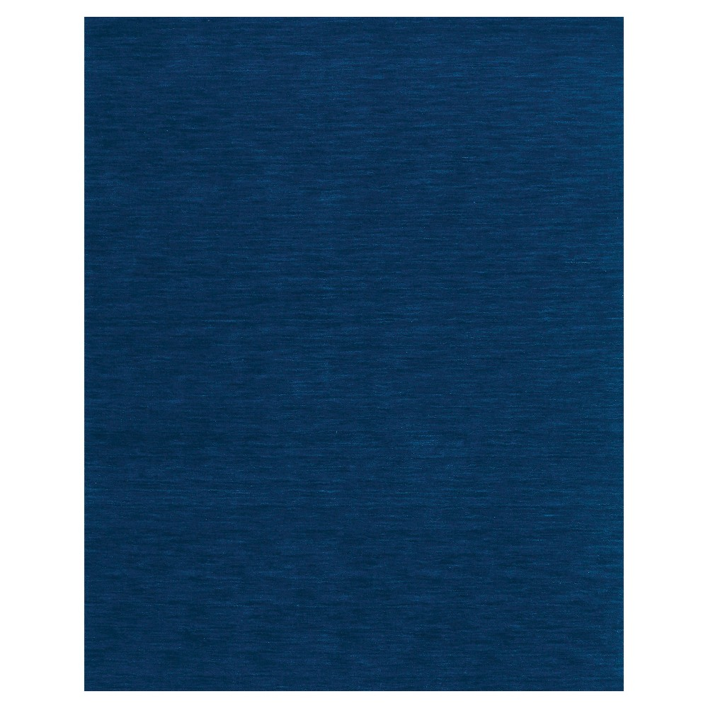 Coupons 5X8 Solid Woven Area Rugs Dark Blue - Weave & Wander