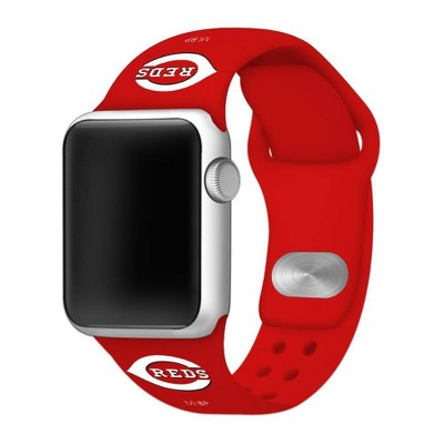 MLB Cincinnati Reds Apple Watch Compatible Silicone Band 42mm - Red