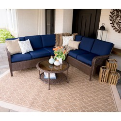 5pc Bessemer All-Weather Wicker Corner Sectional - Leisure Made