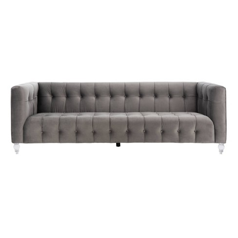 Brynn Acrylic Leg Sofa Dark Gray - Safavieh - image 1 of 4
