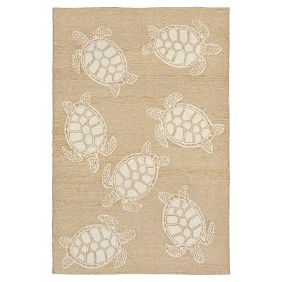 Capri Turtle Rug - Natural - (3'6 X5'6 )- Liora Manne