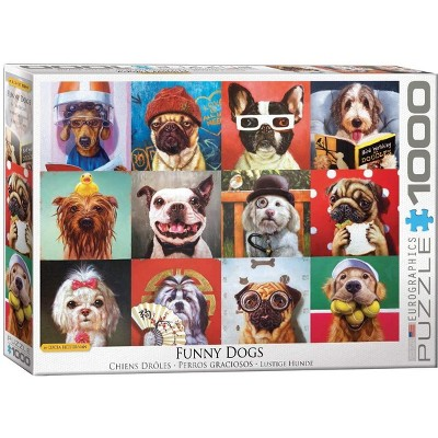 Eurographics Inc. Funny Dogs by Lucia Heffernan 1000 Piece Jigsaw Puzzle