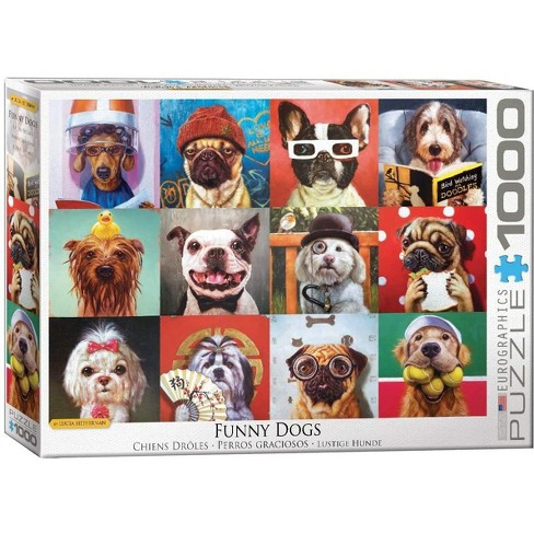 Eurographics Inc. Funny Dogs by Lucia Heffernan 1000 Piece Jigsaw Puzzle - image 1 of 4