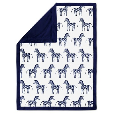 The Peanut Shell Velour Blanket - Indio Zebra