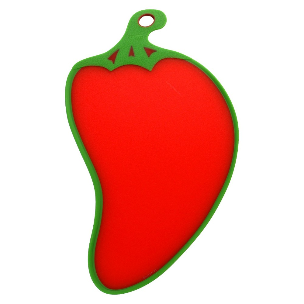 Image of Dexas Chili Pepper Cutting Board- Red